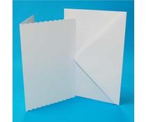 Craft UK Cards & Envelopes C5 Scalloped White (CUK838)