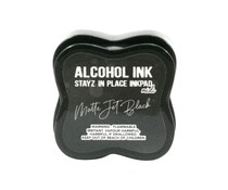 Couture Creations Stayz in Place Alcohol Ink Matte Jet Black Midi Pad (CO728095)
