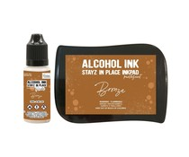 Couture Creations Stayz in Place Alcohol Ink Pearlescent Bronze Pad+Reinker (CO728170)