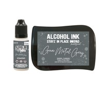 Couture Creations Stayz in Place Alcohol Ink Pearlescent Gun Metal Grey Pad+Reinker (CO728163)