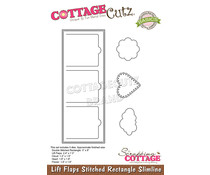 Scrapping Cottage Lift Flaps Stitched Rectangle Slimline (CCB-080)