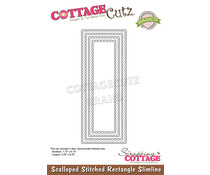 Scrapping Cottage Scalloped Stitched Rectangle Slimline (CCB-084)