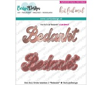 CarlijnDesign Hot Foil Grote Teksten Bedankt (CDHF-0009)