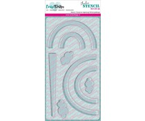 CarlijnDesign Stencil Slimline Regenboog (CDSC-0012)