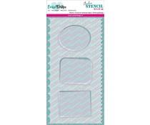 CarlijnDesign Stencil Slimline Achtergrondjes 1 (CDSC-0013)
