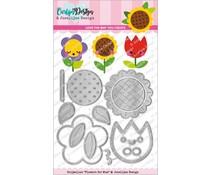 CarlijnDesign Snijmallen Flowers for Mom (CDJD-0013)