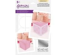 Gemini Locking Heart Favour Box Dimensionals Die & Stencil (GEM-MD-DIM-LOC)