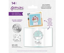 Gemini Enjoy the Bubbles Stamp & Die (GEM-STD-ENJBUB)