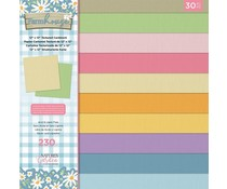 Crafter's Companion Farmhouse 12x12 Inch Textured Cardstock Pad (NG-FH-PAD12-T)