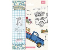 Crafter's Companion Farmhouse Enjoy The Ride Stamp & Die (NG-FH-STD-ETRI)
