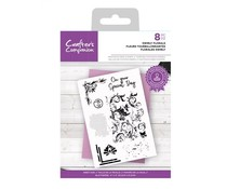 Crafter's Companion Swirly Florals Clear Stamps (CC-STP-SWFL)