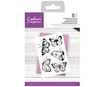 Crafter's Companion Butterflies in Flight Clear Stamps (CC-STP-BUTFL)