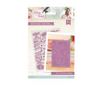 Crafter's Companion Letters from The Heart Vintage Postmarks Embossing Folder (S-LFTH-EF5-VINP)