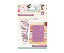 Crafter's Companion Letters from The Heart Traditional Script Embossing Folder (S-LFTH-EF5-TRAS)