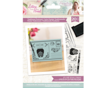 Crafter's Companion Letters from The Heart Traditional Postcard Stamp & Die (S-LFTH-STD-TRAP)