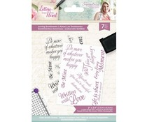 Crafter's Companion Letters from The Heart Loving Sentiments Clear Stamps (S-LFTH-ST-LOSE)