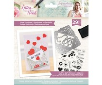 Crafter's Companion Letters from The Heart Lace Envelope Stamp & Die (S-LFTH-STD-LACE)