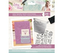 Crafter's Companion Letters from The Heart Classic Typewriter Stamp & Die (S-LFTH-STD-CLAT)