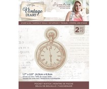 Crafter's Companion Vintage Diary Pocket Watch Stamp & Die (S-VD-STD-POCKW)