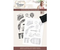 Crafter's Companion Vintage Diary Perfectly Parisian Clear Stamps (S-VD-STP-PERPA)
