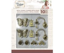Crafter's Companion Vintage Diary Metal Charms (10pcs) (S-VD-CHARM)