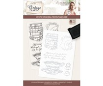 Crafter's Companion Vintage Diary Exquisite Embellishments Clear Stamps (S-VD-STP-EXQ)