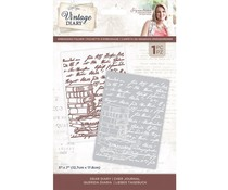 Crafter's Companion Vintage Diary Embossing Folder Dear Diary (S-VD-EF5-DEADIA)
