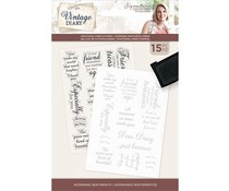 Crafter's Companion Vintage Diary Adorning Sentiments Clear Stamps (S-VD-STP-ADOR)
