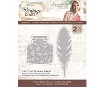 Crafter's Companion Vintage Diary Feathered Quill Dies (S-VD-MD-FEQUIL)