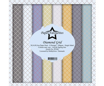 Paper Favourites Diamond Grid 12x12 Inch Paper Pack (PF368)