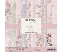 Reprint La vie en Rose Collection 8x8 Inch Paper Pack (RPM017)