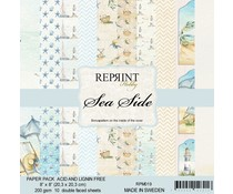 Reprint Sea Side Collection 8x8 Inch Paper Pack (RPM019)