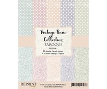 Reprint Vintage Basic Collection Damask 6x6 Inch Paper Pack (RPP056)