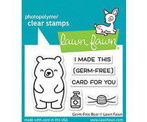 Lawn Fawn Germ-Free Bear Clear Stamps (LF2462)