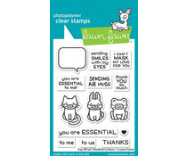 Lawn Fawn Say What? Masked Critters Clear Stamps (LF2560)