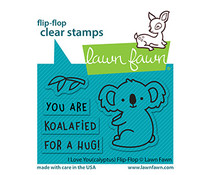 Lawn Fawn I Love You (calyptus) Flip-Flip Clear Stamps (LF2564)