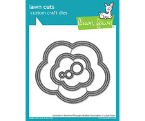Lawn Fawn Outside In Stiched Thought Bubble Stackables Dies (LF2574)