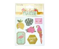 Dovecraft Finding Paradise Foam Glitter Stickers (7pcs) (DCSTK094)