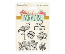 Dovecraft Finding Paradise Clear Stamps (6pcs) (DCSTP185)