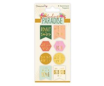 Dovecraft Finding Paradise Sentiment Toppers (8pcs) (DCTOP174)