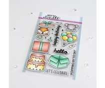 Heffy Doodle Popping By Clear Stamps (HFD0343)
