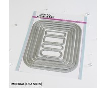 Heffy Doodle Stitched Rounded Imperial Rectangle Dies (HFD0349)