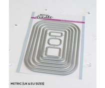 Heffy Doodle Stitched Rounded Metric Rectangle Dies (HFD0350)
