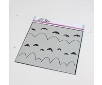 Heffy Doodle Marvellous Mountains Stencil (HFD0357)