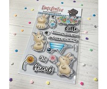 Time For Tea Bloomimg Bunnies Clear Stamps (T4T/663/Blo/Cle)