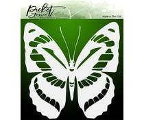 Picket Fence Studios Flutter Butterfly 6x6 Inch Stencil (SC-184)