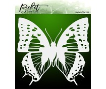 Picket Fence Studios Dart Butterfly 6x6 Inch Stencil (SC-187)
