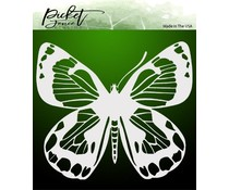 Picket Fence Studios Zing Butterfly 6x6 Inch Stencil (SC-188)