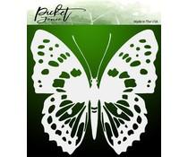 Picket Fence Studios Wander Butterfly 6x6 Inch Stencil (SC-186)