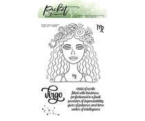 Picket Fence Studios Virgo Girl 4x6 Inch Clear Stamps (HG-100)